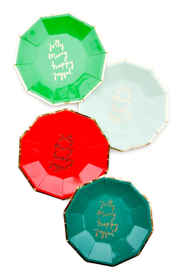 Holiday Joy Paper Plates - LEIF