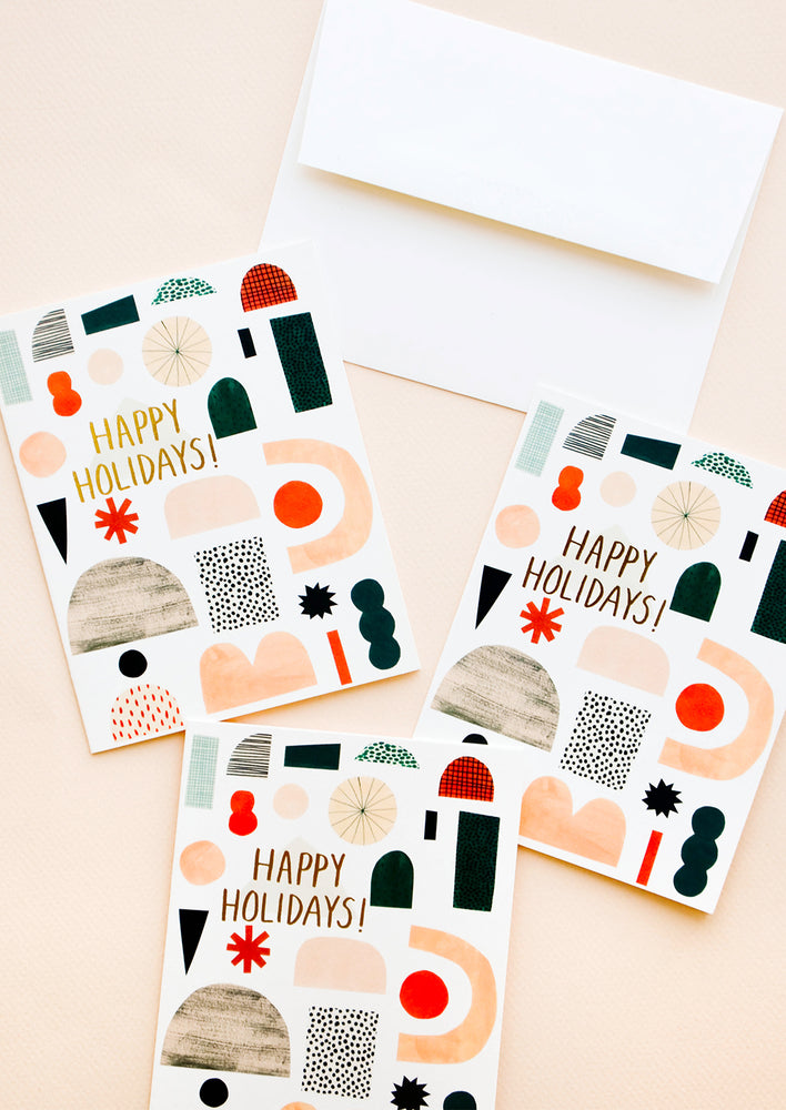 Holiday Shapes Card in Boxed Set of 8 - LEIF