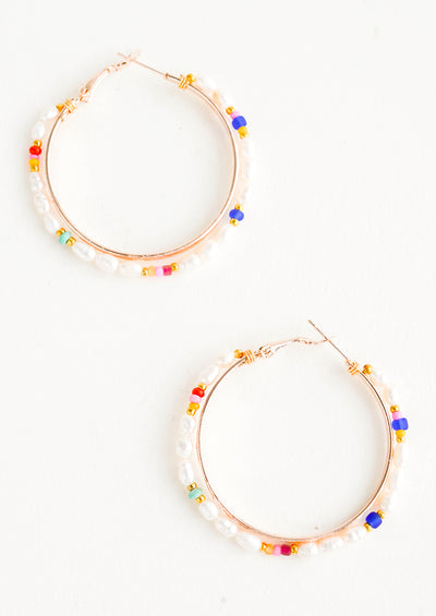 Honora Pearl Hoop Earrings