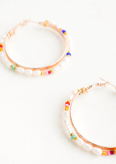 Honora Pearl Hoop Earrings hover