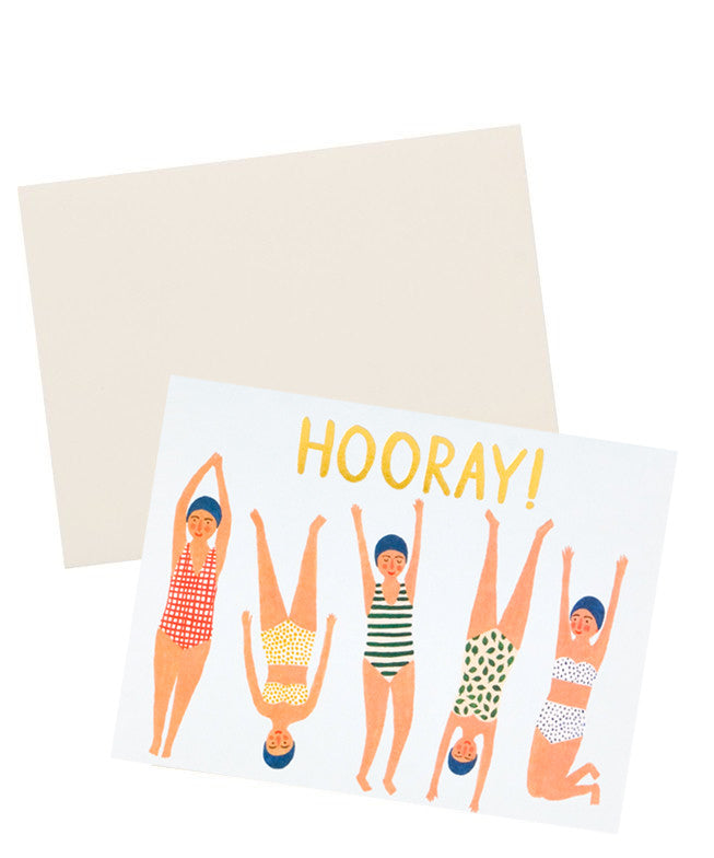 Hooray! Swimmers Card - LEIF