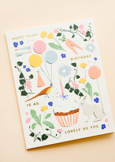 As Lovely As You Birthday Card