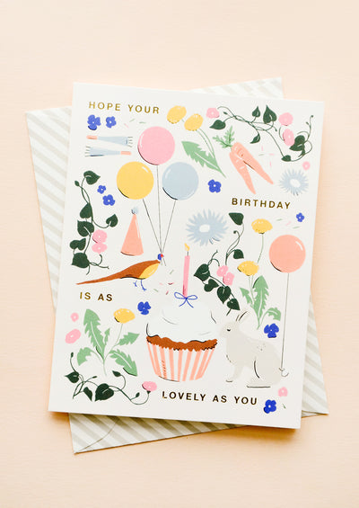 As Lovely As You Birthday Card hover