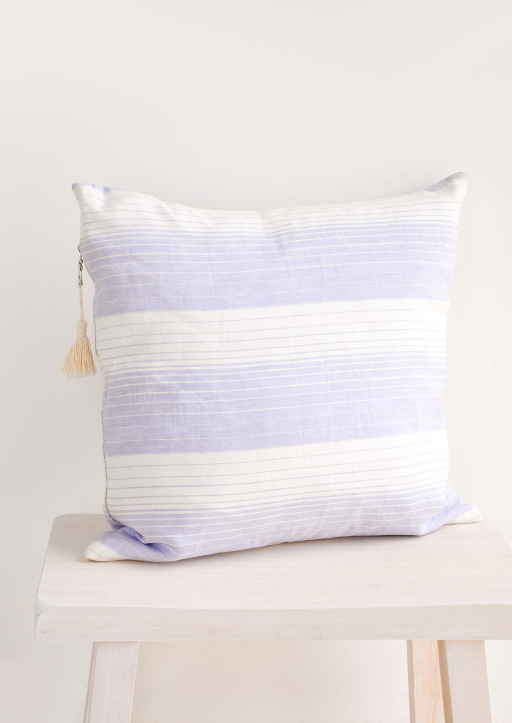"1: Horizon Stripe Linen Pillow, 17"" in  - LEIF"