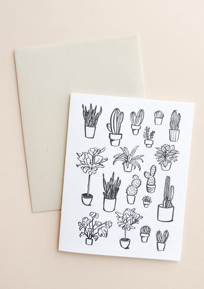 Houseplants Blank Card