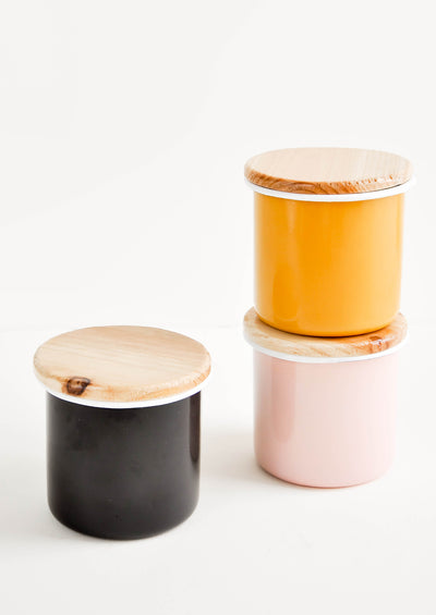 Hue Enamelware Storage Jar in  - LEIF