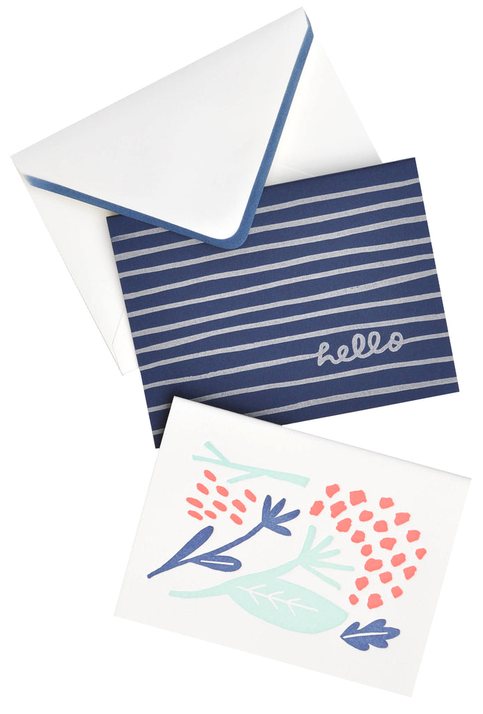 Hydrangea Hello Boxed Card Set - LEIF