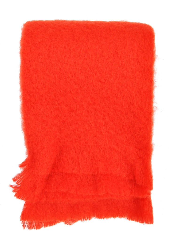 Hygge Mohair Throw in Poppy - LEIF