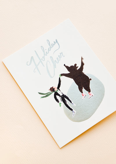 Iceskating Holiday Cheer Card in  - LEIF