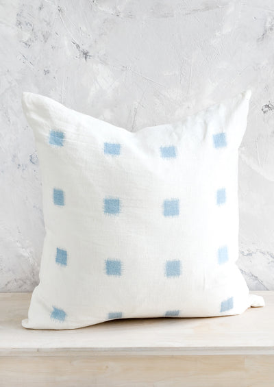 Ikat Stitch Linen Pillow
