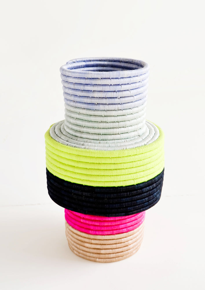 1: Colorblock Sweetgrass Vase in  - LEIF