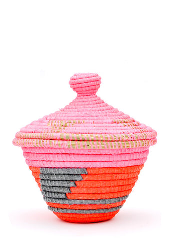 Neon Dreams Lidded Basket - LEIF