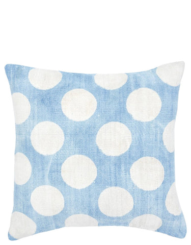 Indigo Dot Pillow, 18""