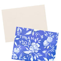 Indigo Floral Thank You Card - LEIF