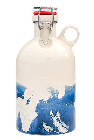 Indigo Splash Ceramic Growler