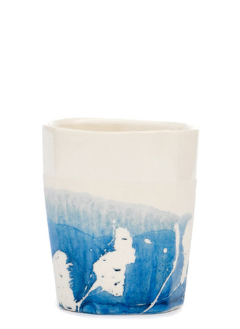 Indigo Splash Whiskey Cup
