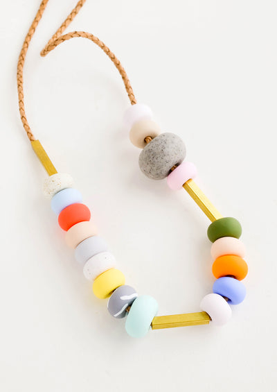 Ines Mixed Bead Necklace hover