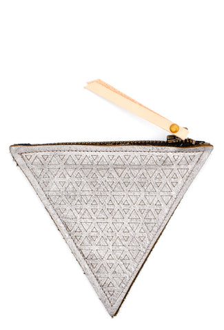 Infinite Triangles Leather Pouch