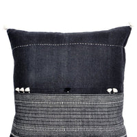 "Rebari Pillow in Dark Pattern Stripe, 16"" - LEIF"