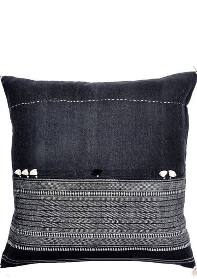 Rebari Pillow in Dark Pattern Stripe