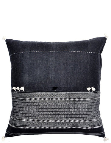 Rebari Pillow in Dark Pattern Stripe, 16""