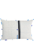 "Asmaani Pillow in Directional Stripe, 16"" x 24"" - LEIF"