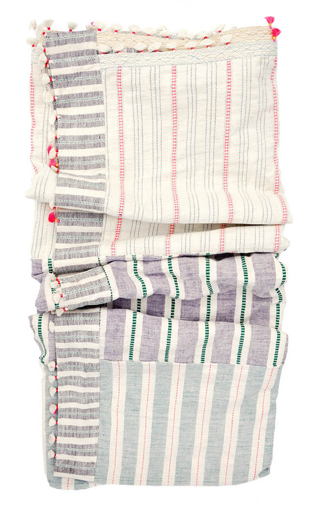 1: Dhari Bed Blanket in Pastel Madras in  - LEIF