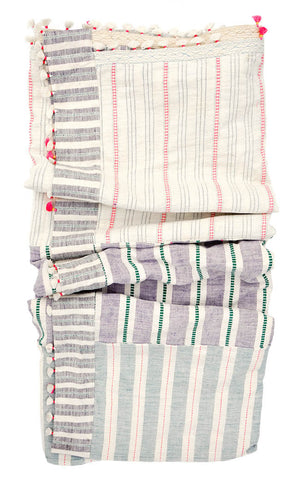 Dhari Bed Blanket in Pastel Madras