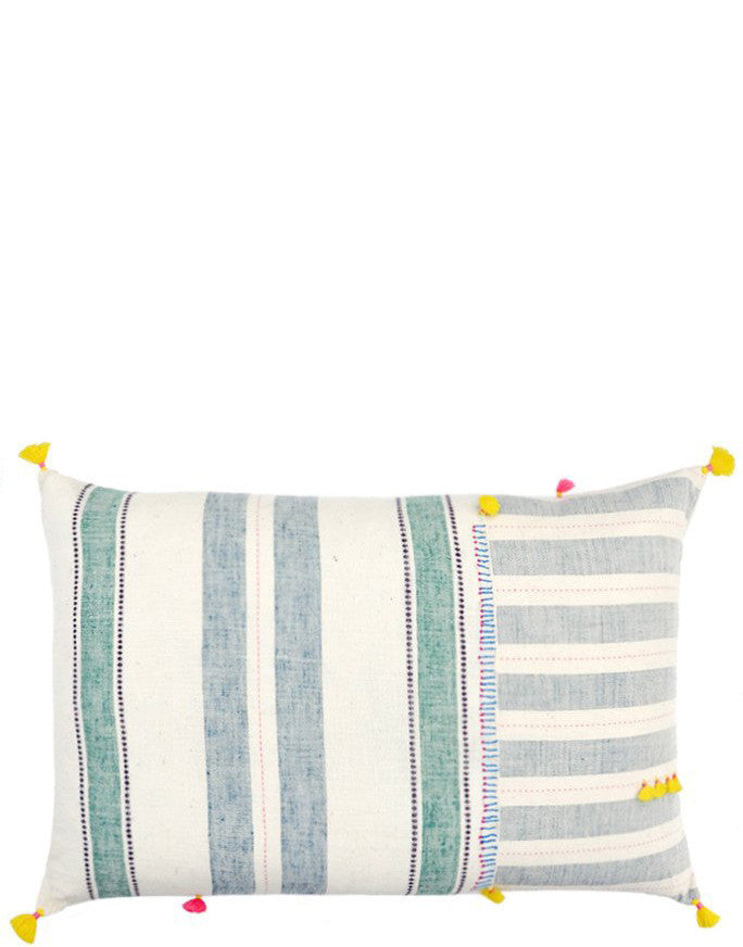 "1: Dhari Pillow in Pastel Stripe, 16"" x 24"" in  - LEIF"