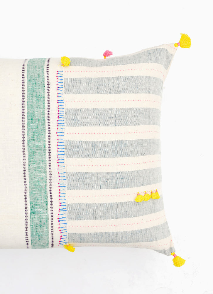 "2: Dhari Pillow in Pastel Stripe, 16"" x 24"" in  - LEIF"