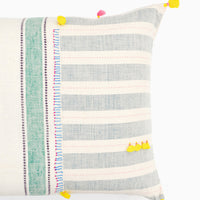 "Dhari Pillow in Pastel Stripe, 16"" x 24"" - LEIF"