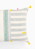 "Dhari Pillow in Pastel Stripe, 16"" x 24"""