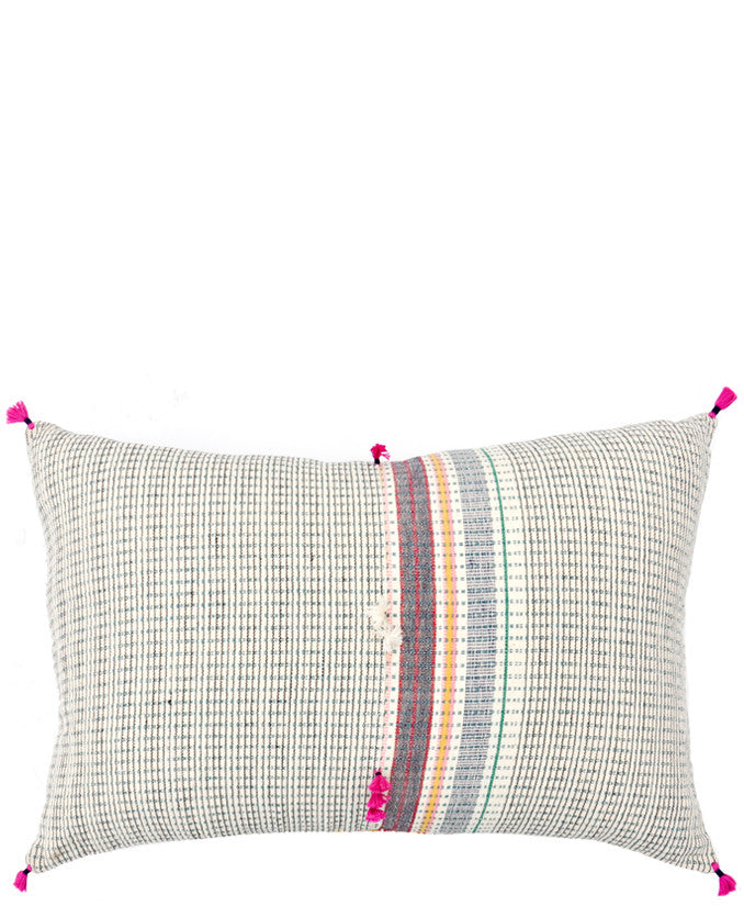 "Ahir Pillow in Multicolor Stripe, 16"" x 24"" - LEIF"
