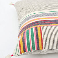 "Ahir Pillow in Multicolor Stripe, 16"" - LEIF"