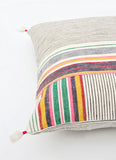 Ahir Pillow in Multicolor Stripe, 16""