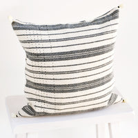 1: Rebari Pillow in Textured Stripe in  - LEIF