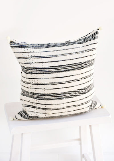 Rebari Pillow in Textured Stripe