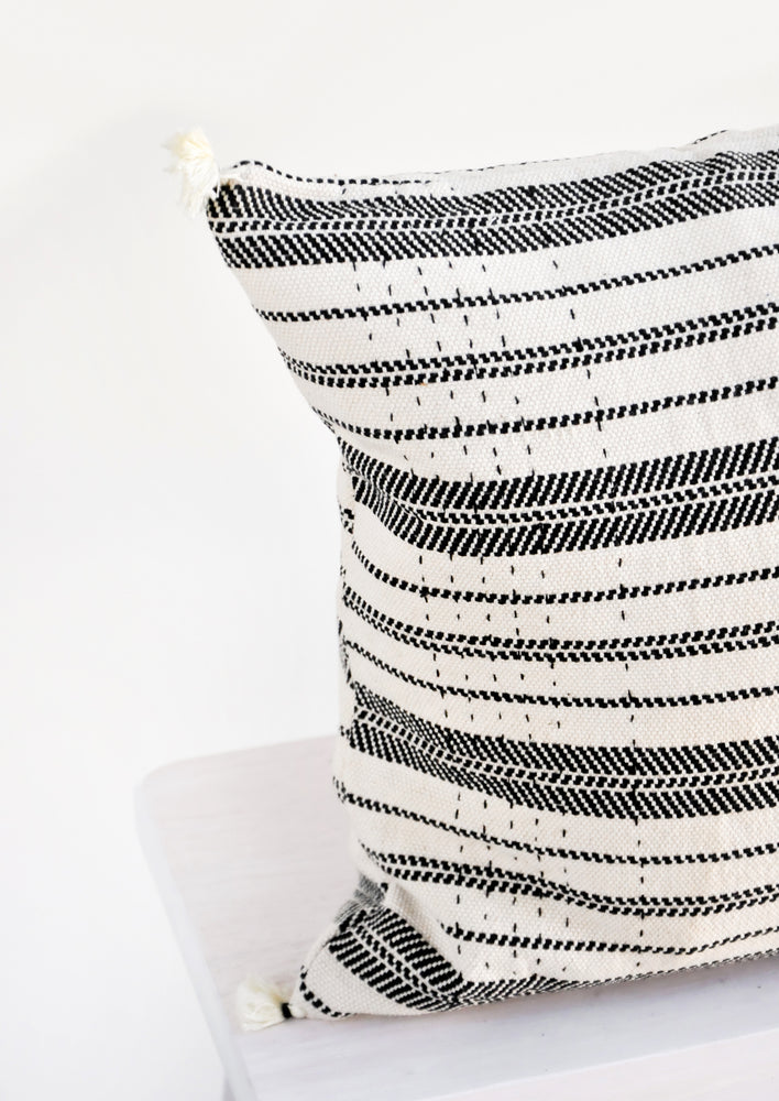 2: Rebari Pillow in Textured Stripe in  - LEIF