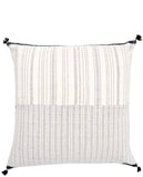 "Rebari Pillow in Textured Stripe, 24"" - LEIF"