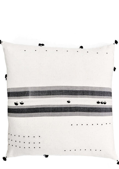 Rebari Pillow in Stitched Black Stripe
