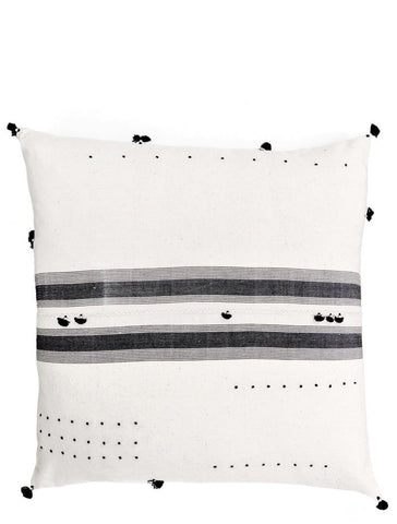 Rebari Pillow in Stitched Black Stripe, 24""