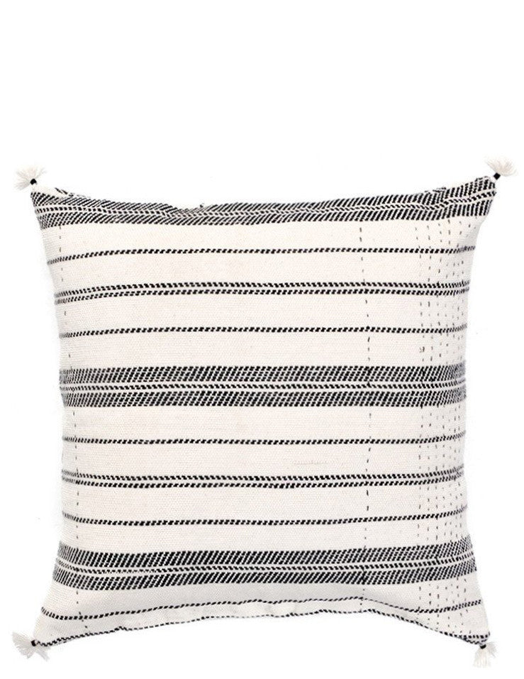 3: Rebari Pillow in Textured Stripe in  - LEIF