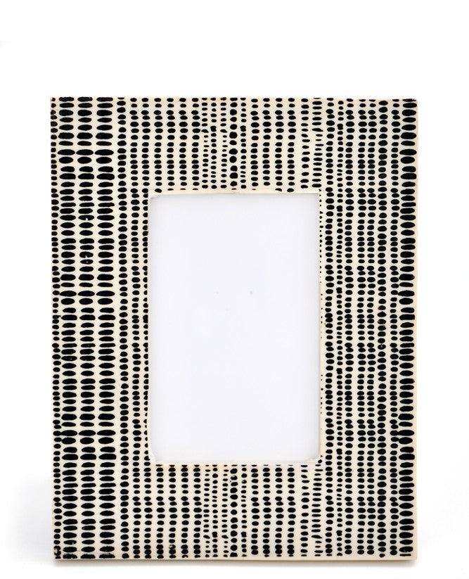 Spots: Inked Pattern Picture Frame in Spots - LEIF