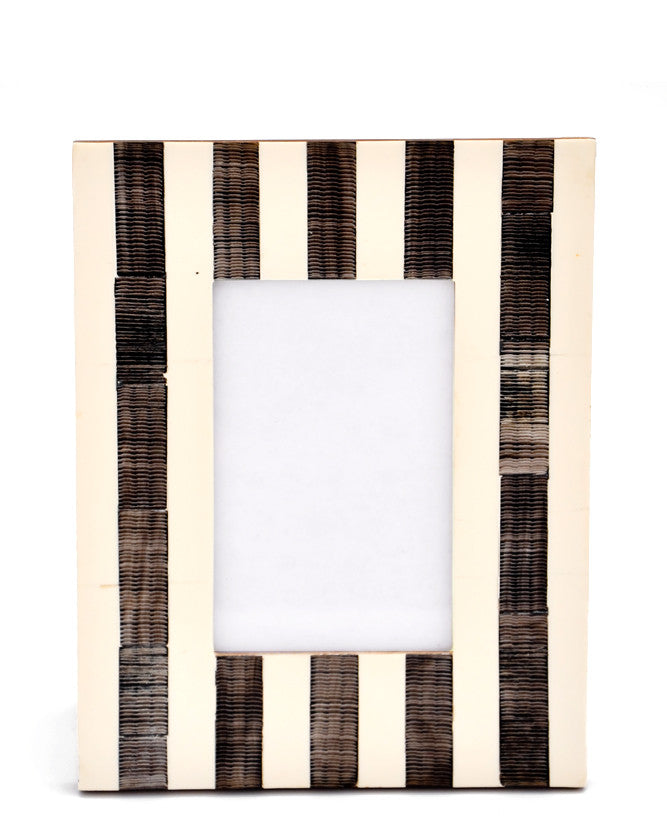 Stripes: Inked Pattern Picture Frame in Stripes - LEIF
