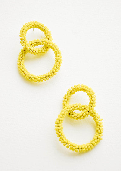Intertwined Beaded Earrings hover