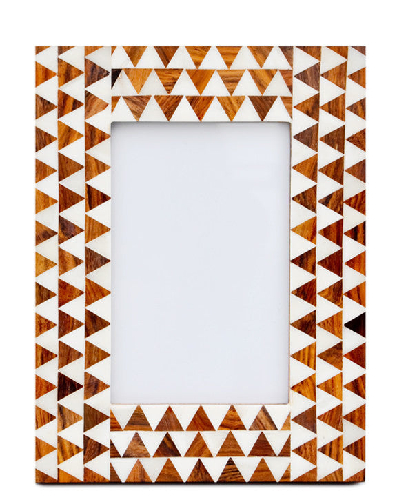 Ivory Triangles Picture Frame - LEIF