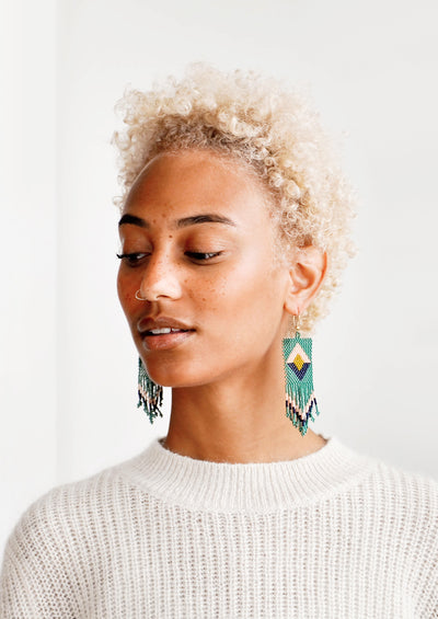 Izmir Beaded Earrings hover