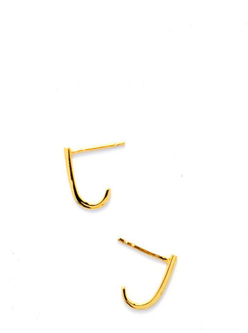 Minimal Wraparound Stud Earrings