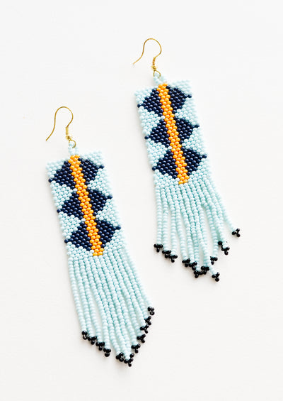 Jester Beaded Earrings in Aqua Multi - LEIF