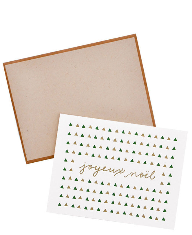 Joyeux Noel Triangles Card Set